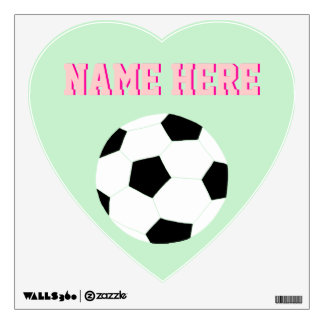 Soccer Wall Decals: Mint Green Soccer Wall Sticker