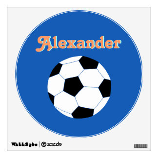 Soccer Wall Decals: Navy Soccer Wall Sticker