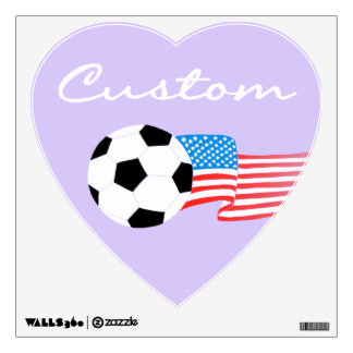 Soccer Wall Decals: Purple Wall Decal