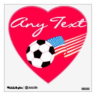Soccer Wall Decals: Red Wall Sticker