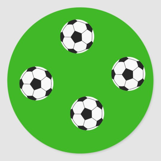 Soccer Wallpaper Classic Round Sticker