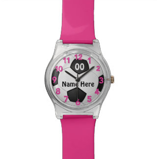 Soccer Watch for Girls with NAME and NUMBER