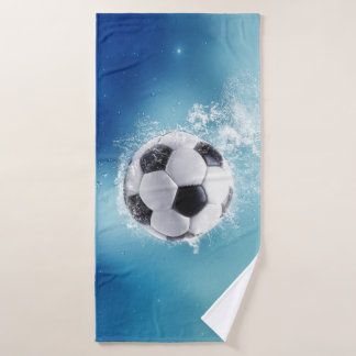Soccer Water Splash Bath Towel