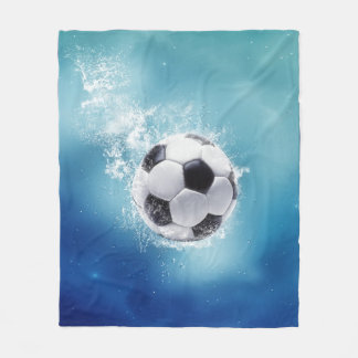 Soccer Water Splash Fleece Blanket