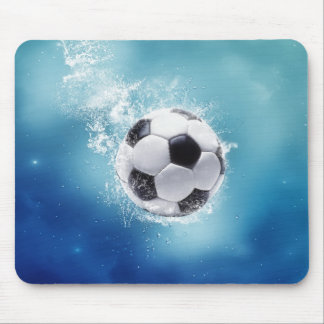 Soccer Water Splash Mouse Pad