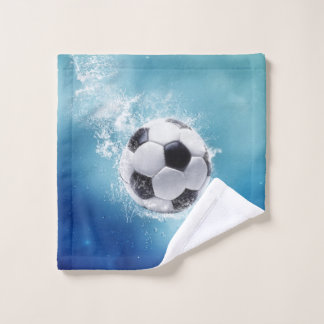 Soccer Water Splash Wash Cloth