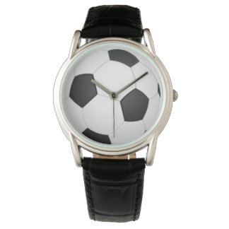 Soccer wild black leather watch by DAL