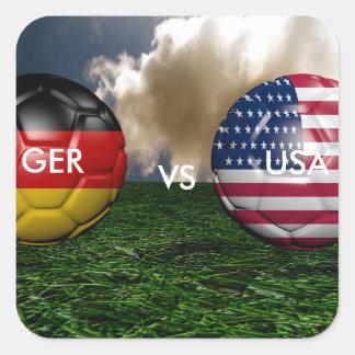 Soccer WM 2014 Square Sticker
