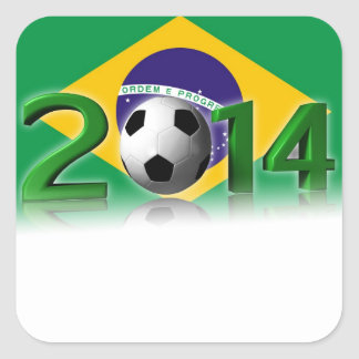 Soccer World Championship 2014 Square Sticker