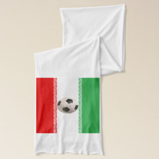 Soccerball with Iranian flag Scarf