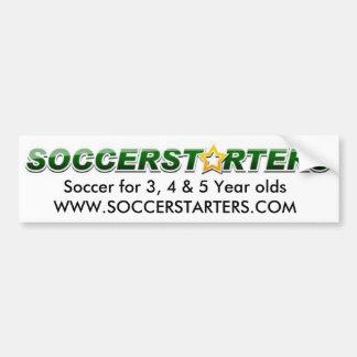 soccerstarterslogo, le football pour l'ol de 3, 4  autocollant de voiture