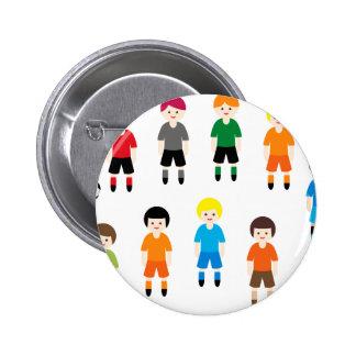 SoccerTeam9 Pinback Buttons