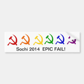 Sochi 2014  EPIC FAIL! Bumper Sticker