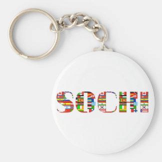 Sochi Basic Round Button Keychain