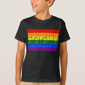 SOCHI Gay Pride Flag T-Shirt