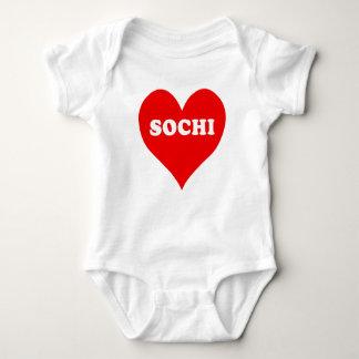 Sochi Heart Baby Bodysuit