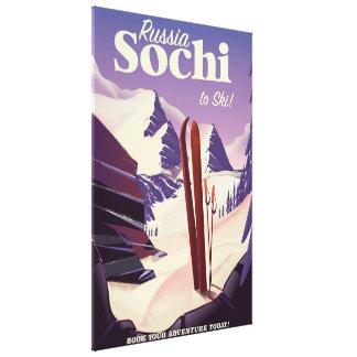 Sochi Russia Ski travel poster Canvas Print