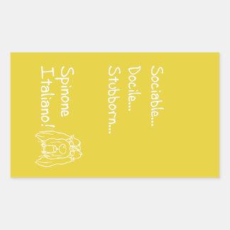 Sociable Spinone Sticker