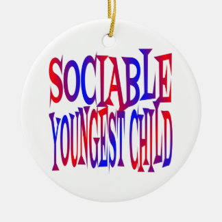 Sociable Youngest Child Ceramic Ornament