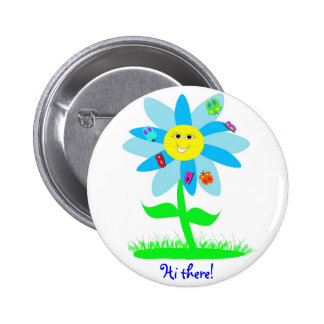 Social Butterfly 2 Inch Round Button