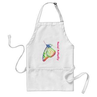 Social Butterfly apron