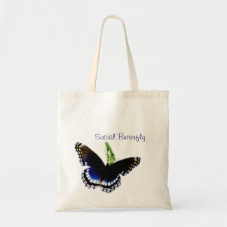 Social Butterfly Budget Tote Bag