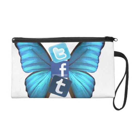 Social Butterfly Wristlet Clutch