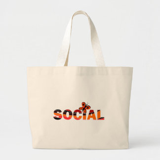 Social butterfly canvas bags