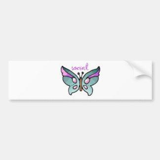 social butterfly bumper stickers