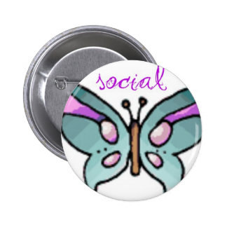 social butterfly pinback buttons