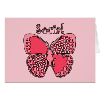 Social Butterfly Card