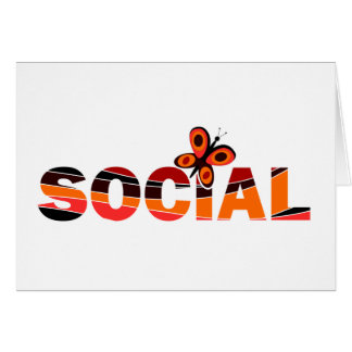 Social butterfly greeting cards