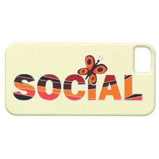 Social butterfly iPhone 5 cover