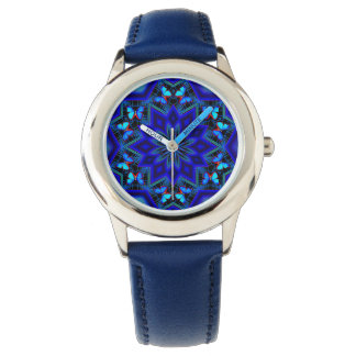 Social Butterfly Custom Stainless Steel Blue Wrist Watches