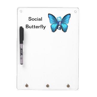 Social Butterfly Dry Erase Board