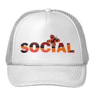 Social butterfly trucker hats