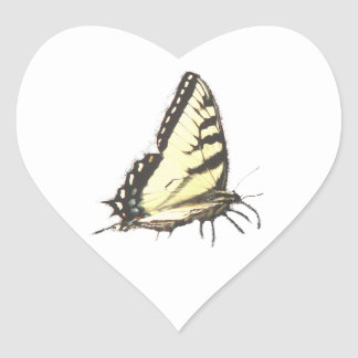 Social Butterfly Heart Sticker