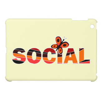 Social butterfly iPad mini cases