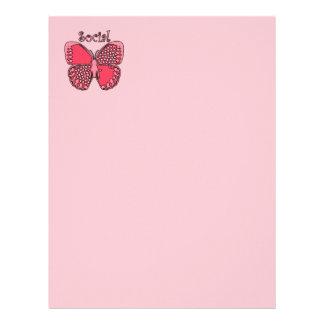 Social Butterfly Custom Letterhead