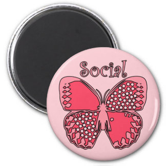 Social Butterfly Refrigerator Magnets