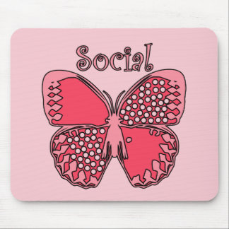 Social Butterfly Mouse Pad