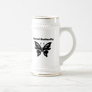 Social Butterfly Coffee Mugs