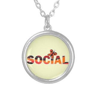 Social butterfly pendant