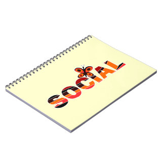 Social butterfly spiral note books
