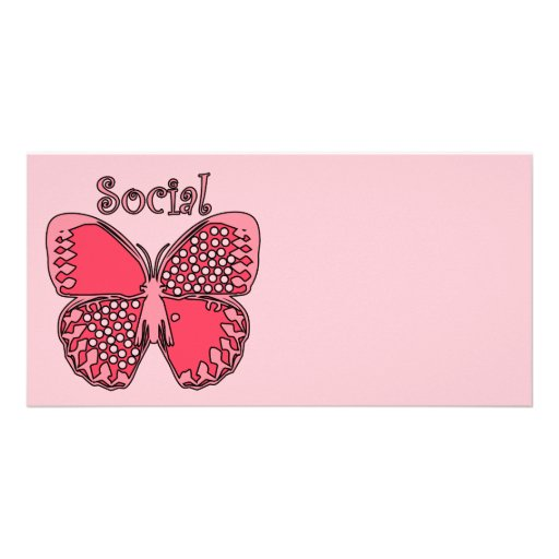 Social Butterfly Photo Cards