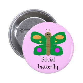 Social Butterfly pin