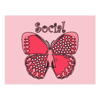 Social Butterfly Post Cards