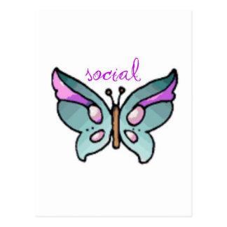 social butterfly postcard