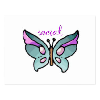 social butterfly post card