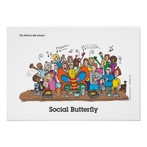 Social Butterfly Posters